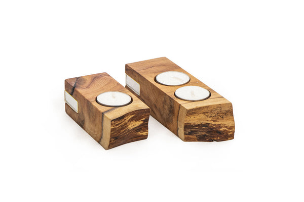 Live Edge Yew Tealight Candle