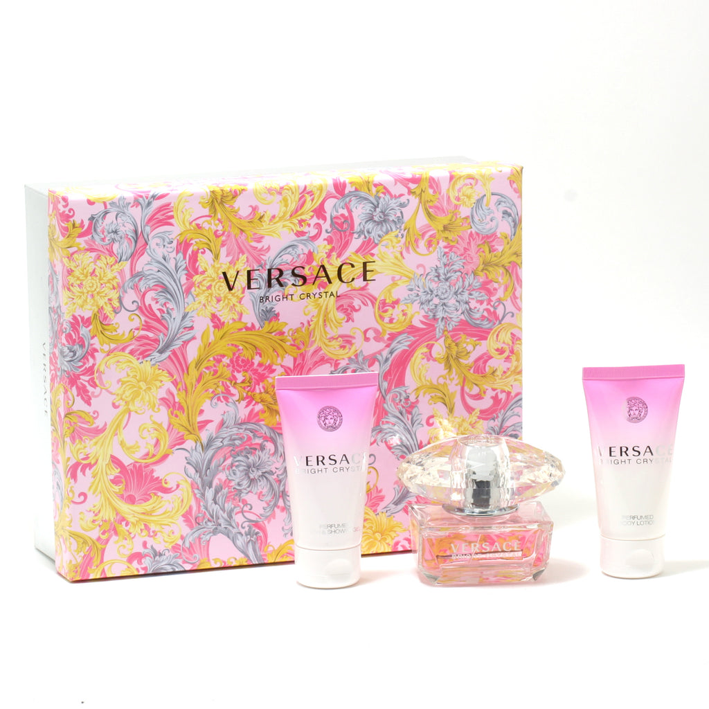 Versace Bright Crystal 1.7 Oz Spray/1.7 Oz Shower Gel/ 1.7 Oz Body Lotion