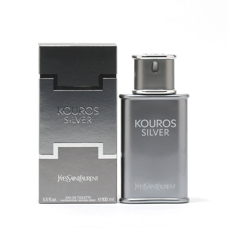 Kouros Silver Men By Yves Saint Laurent -Eau De Toilette Spray 3.3 Oz