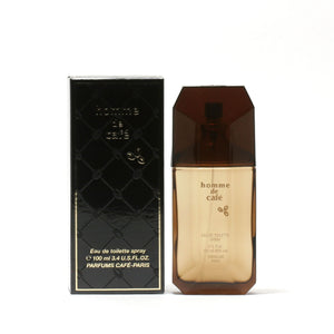 Cafe Homme De Cafe -Eau De Toilette Spray(Black Box) 3.4 Oz