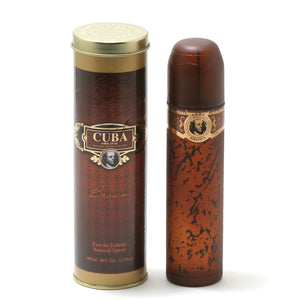Cuba Brown For Men -Eau De Toilette Spray 3.4 Oz - Fragrancelux