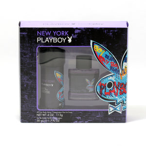 Playboy New York For Men 1.7 Oz EDT Spray/4 Oz Body Spray