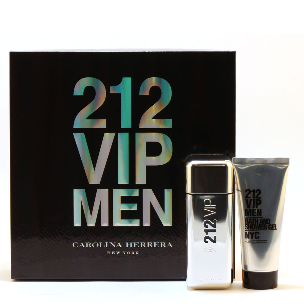 212 VIP Men 3.4 Eau De Toilette Spray/3.4 Shower Gel - Fragrancelux