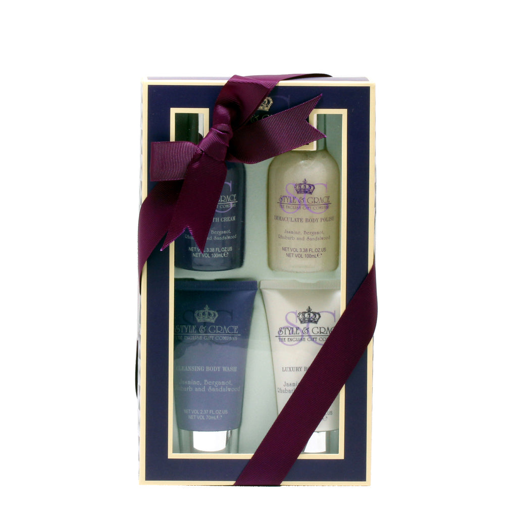 Style & Grace Indulge Treat 2.37 Oz Body Wash/2.37 Oz Body Lotion/3.38 Oz Body Polish/3.38 Oz Bath Cream