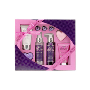 Style & Grace Heaven Pamp Kit 4 Oz Body Wash /3.4 Oz Body Lotion/4 Oz Body Mist /Soap/Body Scrub/Bath Pearls x3 - Fragrancelux