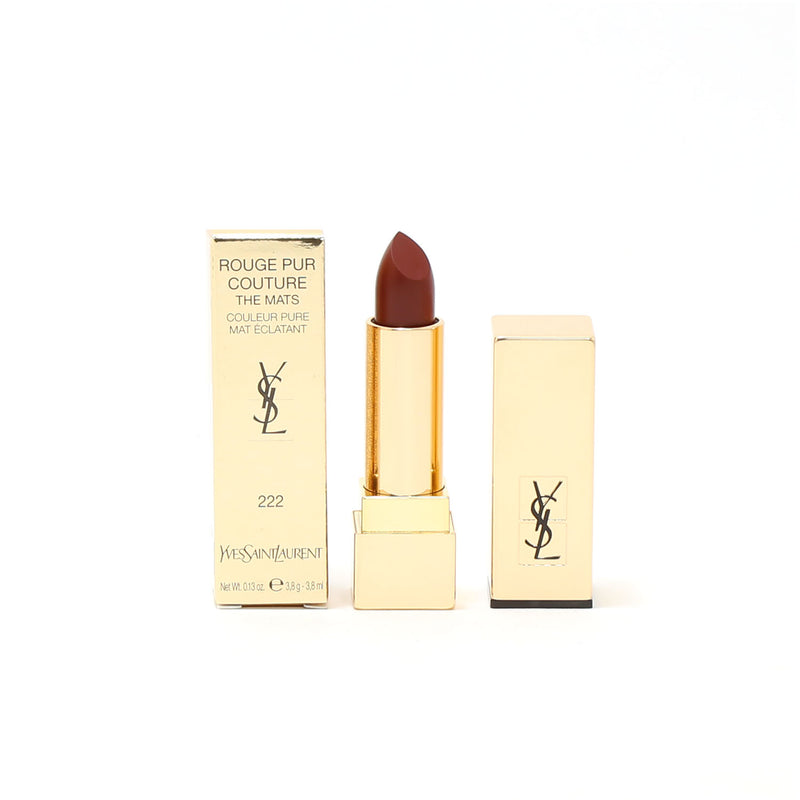 YSL Rouge Pur Couture The Mats #222 Black Red Code
