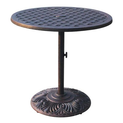 Round Outdoor Bar Table, 30 x 30 with Umbrella Hole