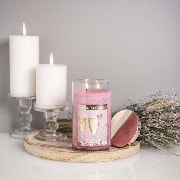 Champagne Rose by Colonial Candle, 18oz (4422764888147)