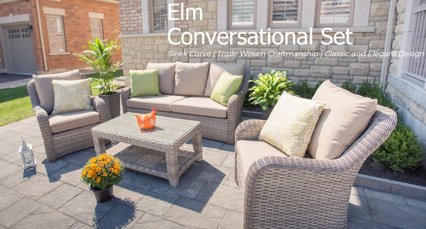 Elm Conversational End Table