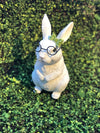 Bunny with Glasses and Green Bow