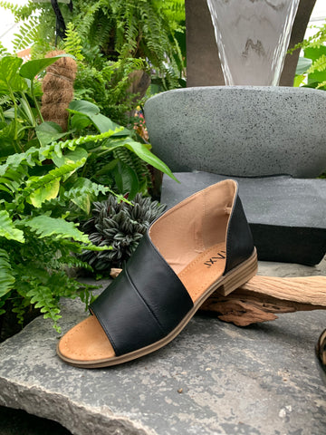 Black Wrap Sandal