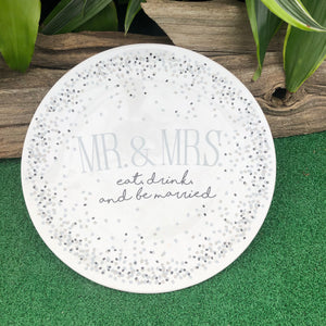 Mr. & Mrs. Wedding Plate (4416292618323)