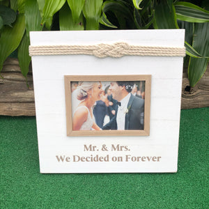 "Mr. & Mrs. 'Love Knot"" Picture Frame"