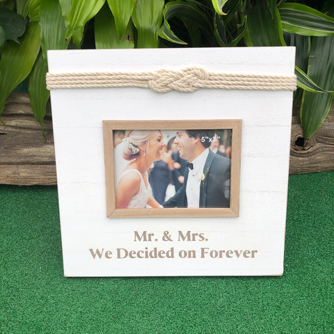 "Mr. & Mrs. 'Love Knot"" Picture Frame (4416294682707)"