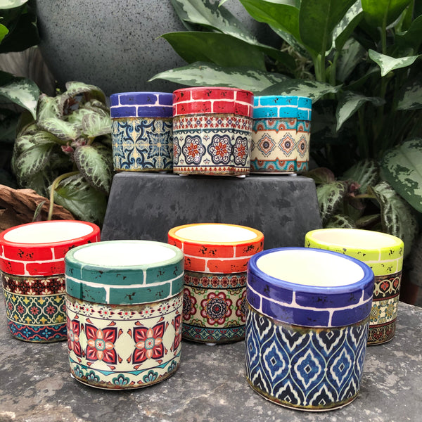Miniature Patterned Pots