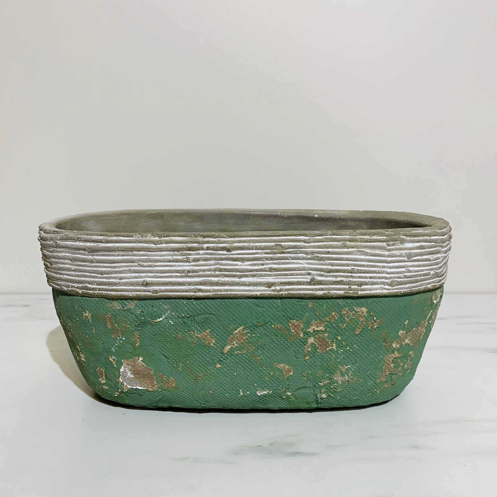 Green Oval Planter