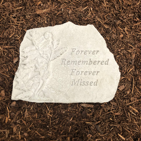 Forever Remembered Memorial Garden Stone