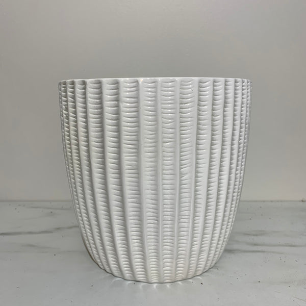 White Cactus Cut Pot (4414979407955)