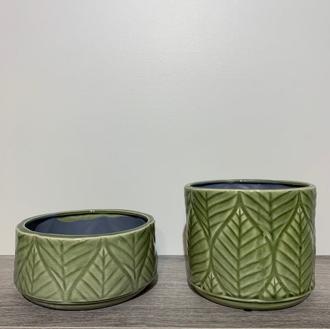 Green Leaf Pots