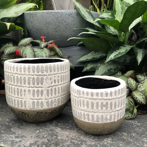 Modern Painted Styled Pots