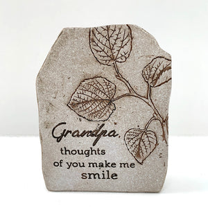 Grandpa, Thoughts Of You make Me Smile Plaque (4415624904787)