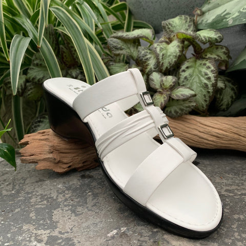 White Wedge Sandal