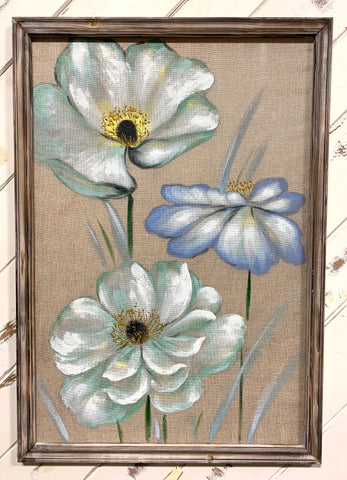 Floral Canvas With Wood Frame (4417112113235)