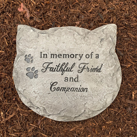 Cat Memorial Garden Stone / Plaque
