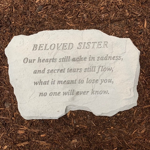 Beloved Sister Memorial Garden Stone