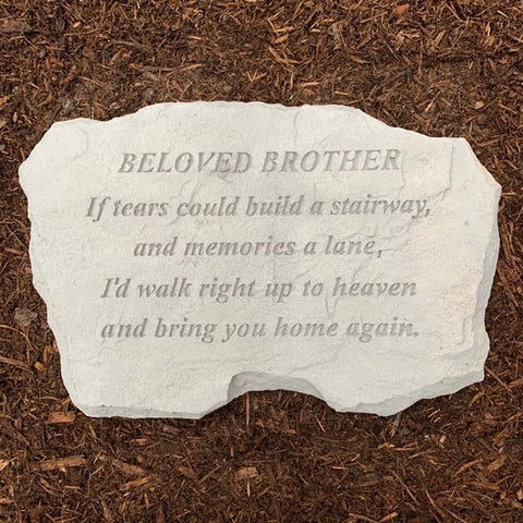 Beloved Brother Memorial Garden Stone