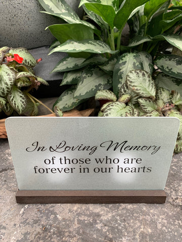 Tea Light Memorial Sign