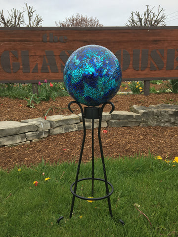 Gazing Ball & Stand For Mom!