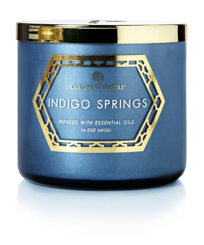 Indigo Springs by Colonial Candle, 14.5 oz (4422565003347)