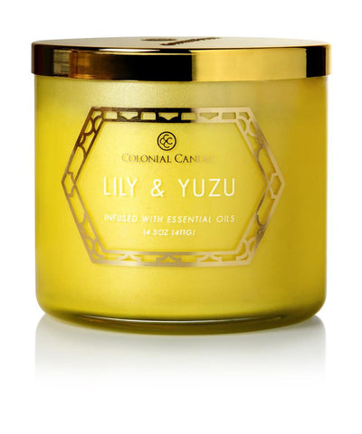 Lily & Yuzu by Colonial Candle, 14.5 oz (4422764134483)