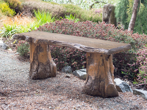Live Edge Bench With Driftwood Legs