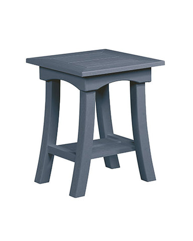 Bay Breeze End Table, Slate Grey