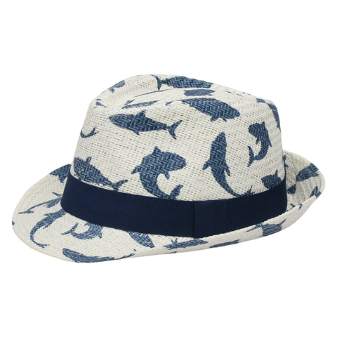 Kids Fedora Hat - Shark (4422022496339)