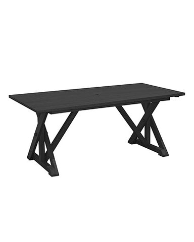 Harvest Dining Table w Umbrella Hole, multiple colour options