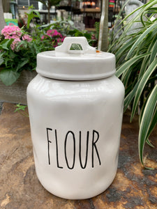 White ceramic Flour Jar (4417102250067)