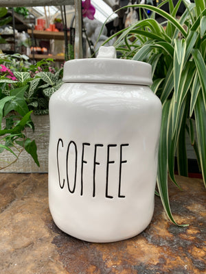White Ceramic Coffee Jar (4417103429715)