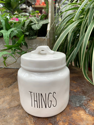 White Ceramic Things Jar (4417104314451)