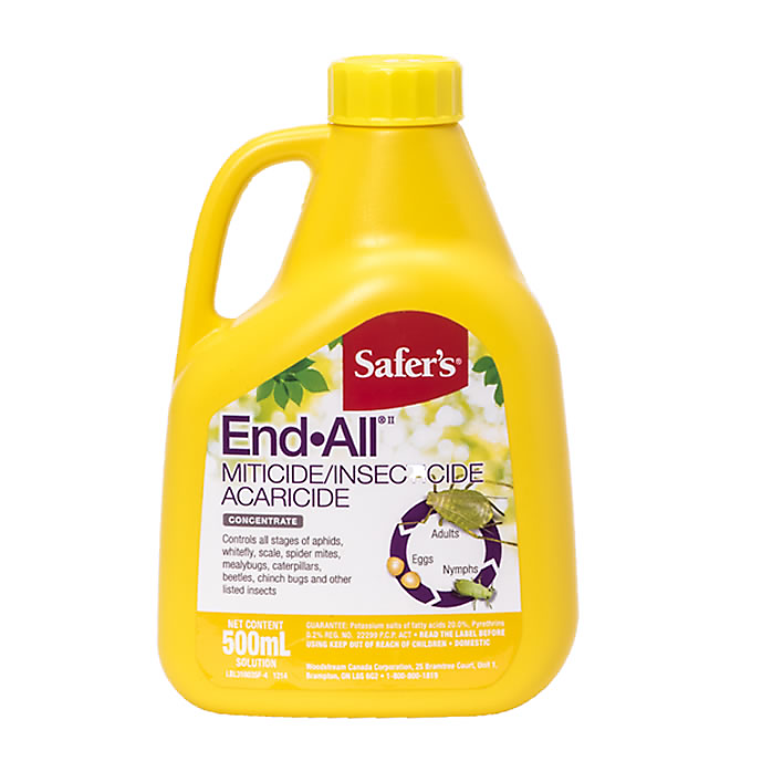 Safer's End All Miticide/Insecticide/Acaricide Concentrate - 500mL (4423424442451)