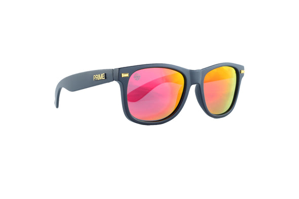 Black / Red Blaze Polarized