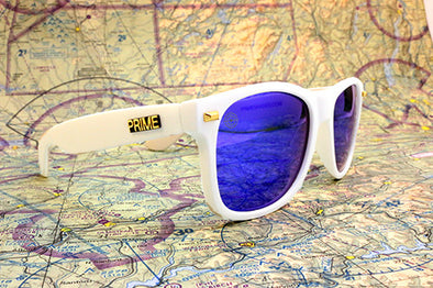 White / Blue Blaze Polarized