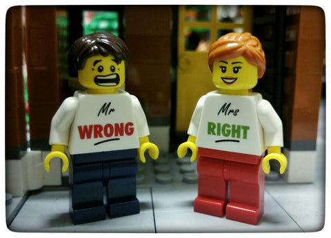 Mr Wrong And Mrs Right Figures
