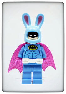 Custom printed Easter Bunny Batman figure