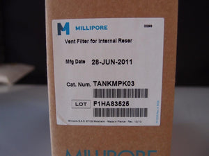 Millipore Vent Filter For Internal Tank 6/10L TANKMPK03 Pore 1 um NEW Lot (3393)