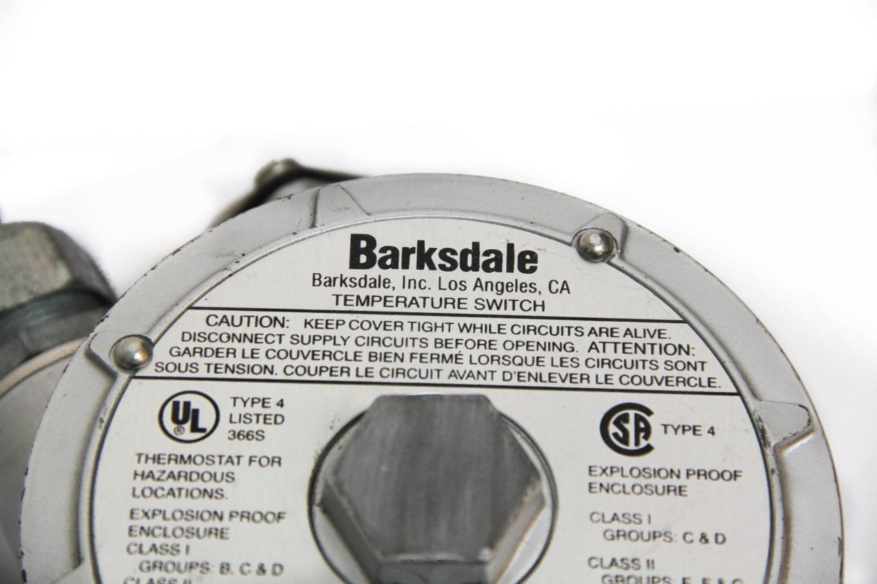 Barksdale Temperature Switch L1X-H351S Single Setting