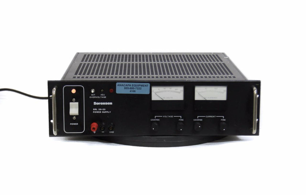 Sorensen SRL 20-25 DC Power Supply 0-25 A 105-125 V Raytheon (4166)