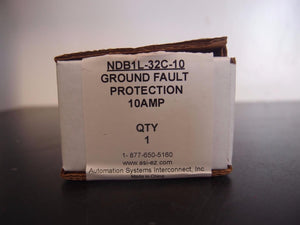 ASI Nader NDB1L-32 Ground Fault Circuit Breaker 10 Amp (833)